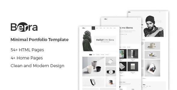 Berra — Minimal Portfolio Template