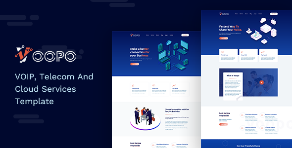 Voopo — VOIP, Telecom And Cloud Services Template