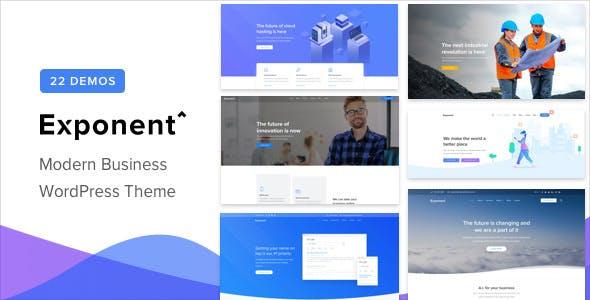 Exponent v1.1.8 — Modern Multi-Purpose Business Theme