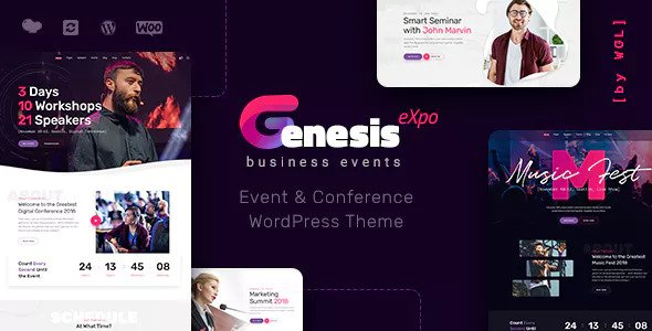 GenesisExpo v1.2.2 — Business Events & Conference Theme