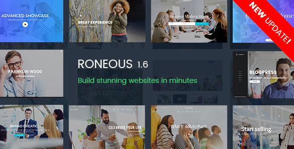 Roneous v1.6.8 — Creative Multi-Purpose WordPress Theme