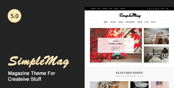 SimpleMag v5.0 — Magazine theme for creative stuff