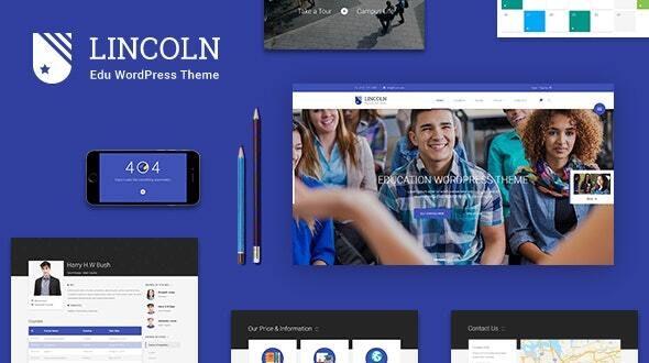 Lincoln v4.3.1 — Education Material Design WordPress Theme