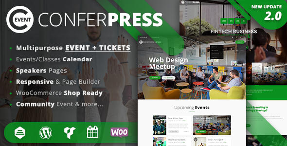 ConferPress v2.6 — Multipurpose Event Tickets WordPress Theme