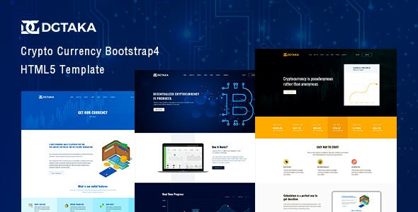 Dgtaka — CryptoCurrency Bootstrap 4 Template