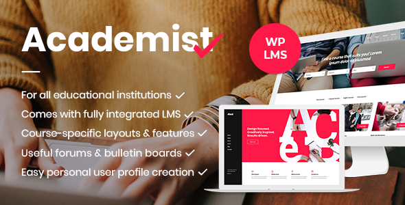 Academist v1.4 — Education & Learning Management System Theme