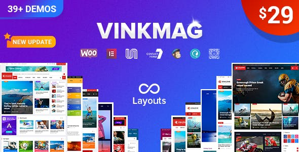 Vinkmag v2.4 — Multi-concept Creative Newspaper