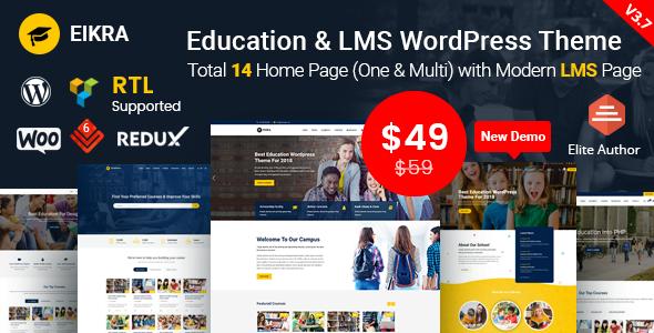 Eikra Education v3.7 — Education WordPress Theme