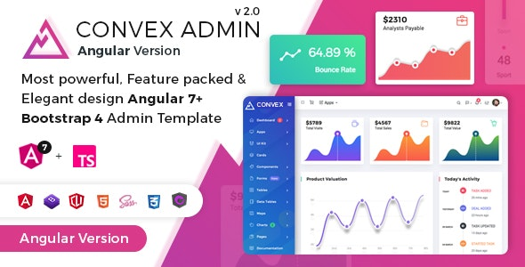 Convex — Angular Bootstrap Admin Dashboard Template