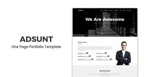 Adsunt — One Page Portfolio Template