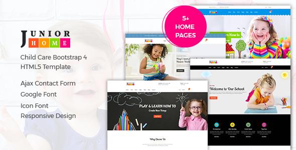 JuniorHome — Education HTML Template