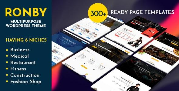 Ronby v1.5 — 6 Niche Business Multi-Purpose WordPress Theme