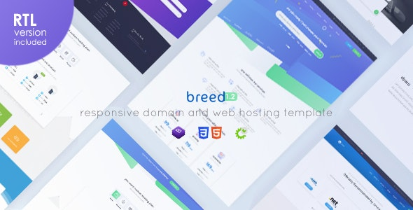 Breed Hosting — WHMCS & HTML Web Hosting Template