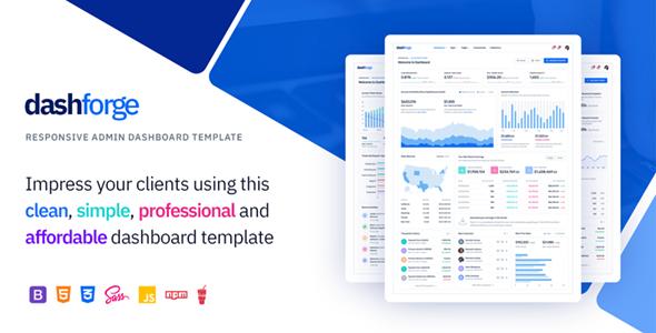 Dashforge v1.0 — Responsive Admin Dashboard Template