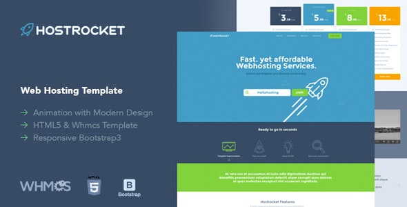Hostrocket WHMCS & HTML Template (19 Feb 2019 Ready for WHMCS 7.7.1)