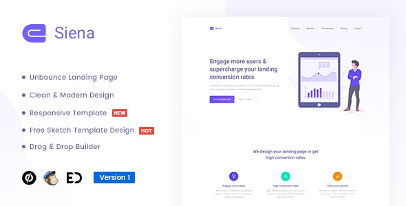 Siena v1.0 — Marketing Unbounce Landing Page Template