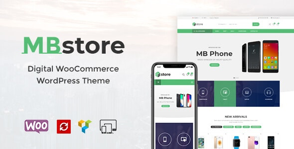 MBStore v1.5 — Digital WooCommerce WordPress Theme