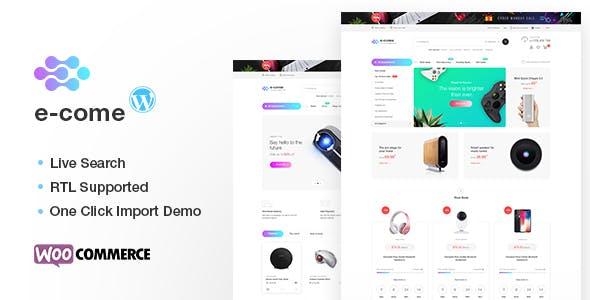 Ecome v1.5.1 — Electronics Store WooCommerce Theme
