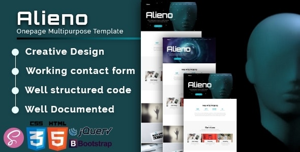 Alieno v1.0 — Onepage Multipurpose Template