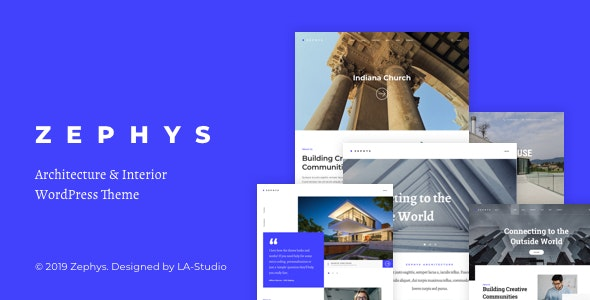 Zephys v1.0.1 — Architecture & Interior WordPress Theme