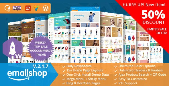 EmallShop v2.2.0 — Multipurpose WooCommerce Theme