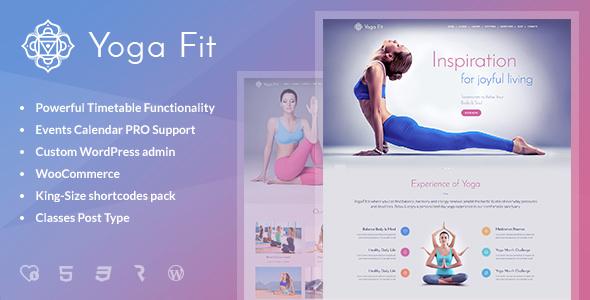 Yoga Fit v1.2.4 — Sports, Fitness & Gym WordPress Theme
