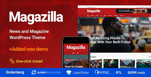 Magazilla v1.0.4 — News & Magazine Theme
