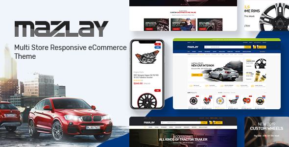 Mazlay v1.0 — Car Accessories OpenCart Theme (Included Color Swatches)