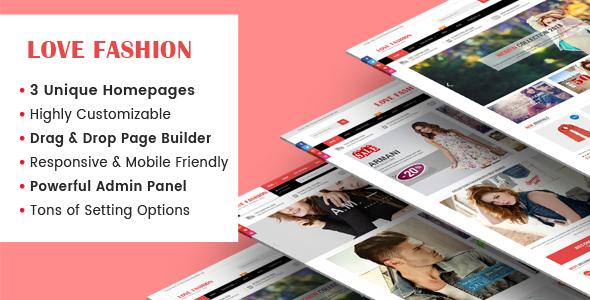LoveFashion v1.0.1 — Responsive Multipurpose Sections Drag & Drop Builder Shopify Theme