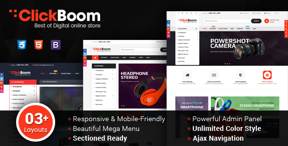 ClickBoom v1.0.0 — Responsive Multipurpose Shopify Theme (Sections Ready)