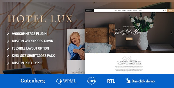 Hotel Lux v1.1.2 — Resort & Hotel WordPress Theme