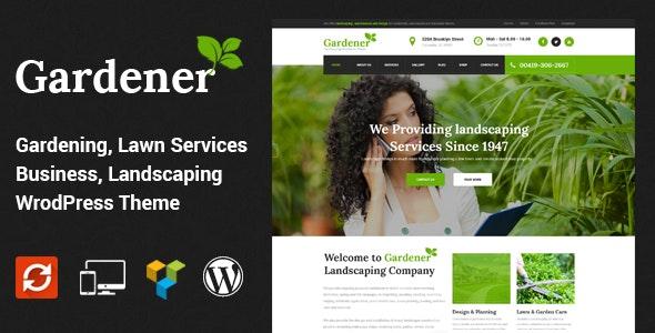 Gardener v1.5 — Lawn and Landscaping WordPress Theme