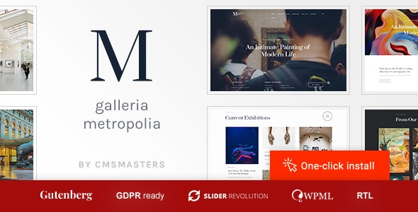 Galleria Metropolia v1.0.8 — Art Museum & Exhibition Gallery Theme