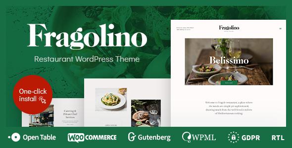 Fragolino v1.0.2 — an Exquisite Restaurant WordPress Theme