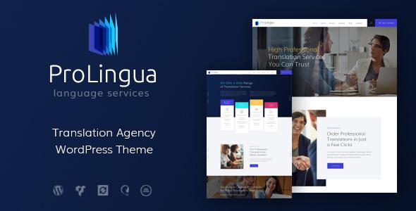 ProLingua v1.1 — Translation Services WordPress Theme