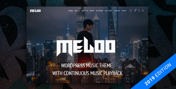Meloo v2.5.1 — Music Producers, DJ & Events Theme for WordPress