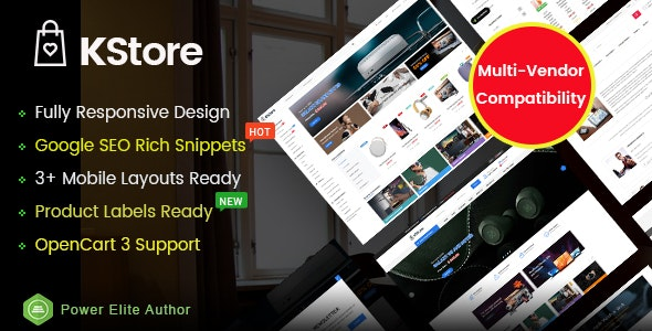 KStore v1.0 — Multipurpose OpenCart 3 Hi-Tech Theme ( 3 Mobile Layouts Included)