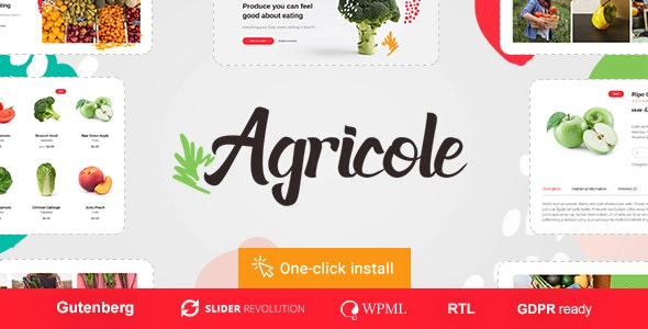 Agricole v1.0.2 — Organic Food & Agriculture WordPress Theme