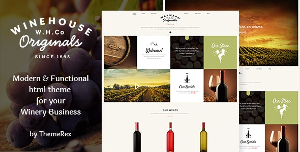 Wine House v1.1 — Vineyard, Shop & Restaurant Site Template