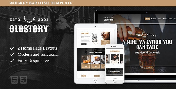 OldStory v1.0.1 — Whisky Bar | Pub | Restaurant Site Template