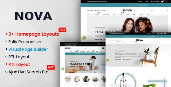 Nova v1.0 — Multipurpose Drag & Drop Shopify Responsive Theme