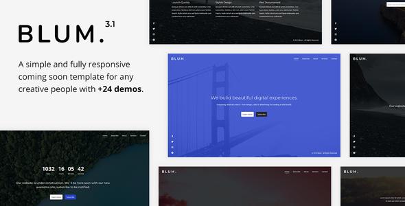 Blum v3.1 — Responsive Coming Soon Template