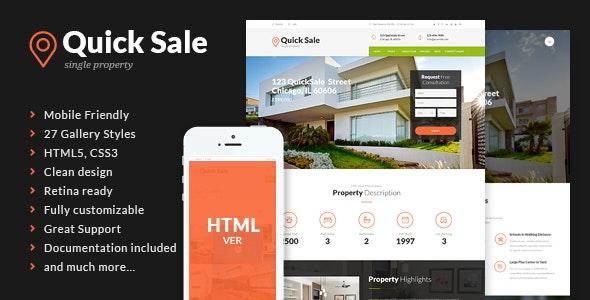 Quick Sale v1.1 — Real Estate HTML Theme