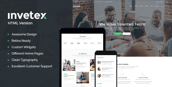 Invetex v1.0 — Business Consulting & Investments Site Template