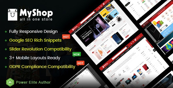 MyShop v1.0 — Top Multipurpose OpenCart 3 Theme (3+ Mobile Layouts Included)
