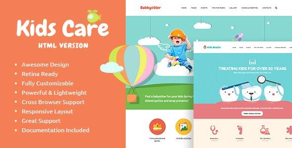 KidsCare v1.0 — Multi-Purpose Children Site Template