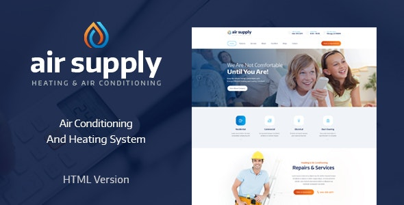 AirSupply v1.0 — Air Conditioning and Heating Services Site Template