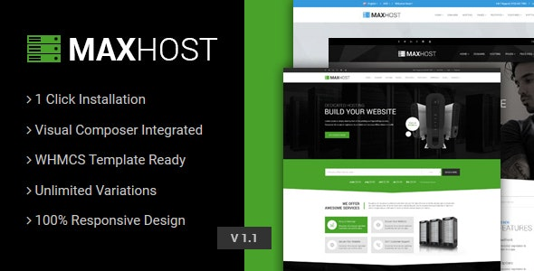MaxHost v3.3 — Web Hosting, WHMCS and Corporate Business WordPress Theme with WooCommerce