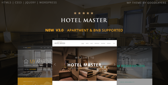 Hotel Master v3.20 — Hotel Booking WordPress Theme