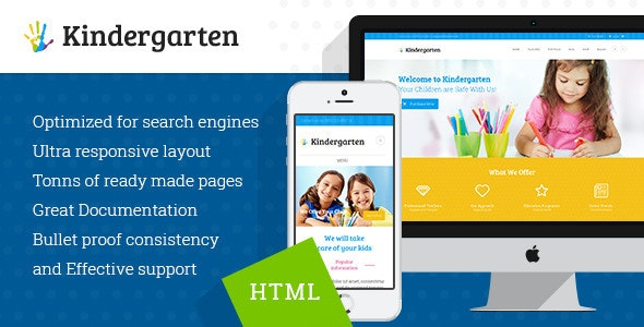 Kindergarten v1.1 — Children HTML Theme